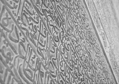 Stone caligraphy (Ali Shojaee) Tags: isfahan iran iranian art architecture arch dome tile stucco brick mehrab