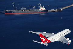 Qantas Airbus A380-842  VH-OQC (Mark Harris photography) Tags: canon aircraft sydney planes qantas spotting yssy