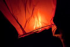 Sky Lantern, Lake Shafer, Monticello, Indiana (Roger Gerbig) Tags: indiana monticello skylantern lakeshafer rogergerbig