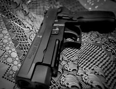 Artistic Defense (Greenneck) Tags: blackandwhite bw contrast america freedom pattern geometry 9 2nd pistol second sig 9mm p226 guncontrol sigsauer admendment mk25