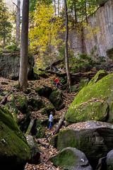 Playing In Gorge (kschmitz2) Tags: fall rock moss unitedstates kentucky gorge olivehill cartercaves canoneos60d kyleschmitz 1635mmf28llens zackschmitz