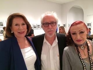 Appraiser Dora Valdes-Fauli with renowned photographer Mario Algaze and Marsha Jouben at Mario's exhibition of photos at HistoryMiami museum