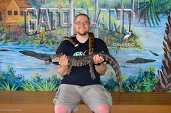 "Holding a Gator and a Snake • <a style=""font-size:0.8em;"" href=""http://www.flickr.com/photos/92159645@N05/15612685194/"" target=""_blank"">View on Flickr</a>"