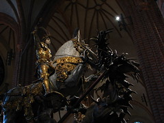St George and the Dragon statue (Sparky the Neon Cat) Tags: old st statue town george wooden europe dragon cathedral sweden stockholm interior stan sverige scandinavia goran gamla storkyrkan gran berndt notke