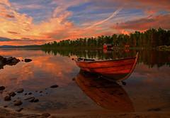 Germany - Sunset (Jacques Rollet (Little Available)) Tags: nuage cloud ciel sky groupenuagesetciel fantasticnature lake colors sunset reflection