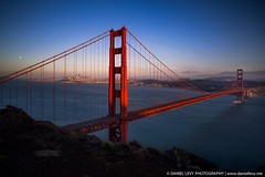 Moon Rise over the Golden Gate Bridge #Photography (dlevy-photography) Tags: blog posted