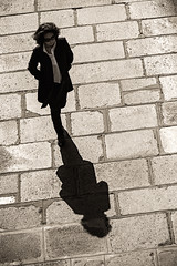 I'm a Lady (mouzhik) Tags: shadow blackandwhite bw paris blancoynegro monochrome backlight canon contraluz noiretblanc ombra streetphotography kitlens efs1855mm sombra nb ombre monochrom schatten bianconero parijs contrejour biancoenero controluce pars gegenlicht blanconegro cie zemzem againstthelight  photoderue muzhik pary  mujik parys  imalady singlewoman schwarzweis   pariisi    photographiederue  parizo moujik femmeseule fotografiadistrada fotoderua strasenfotografie  mouzhik   eos100d     pars  eosrebelsl1 y  prizs