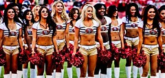 Gold Rush5 (eljeferino) Tags: gold cheerleaders nfl 49ers rush