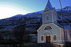 The beautiful Seyisfjrur in north eastern Iceland (AndyMort85) Tags: winter lake ice church iceland glacier fjord seyisfjrur
