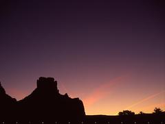 Underneath A Purple Sky ( RAINYNEPTUNUS ) Tags: arizona film analog mediumformat dawn desert pentax dusk sedona fujifilm analogphotography filmphotography pentax6x7 desertlight desertrocks