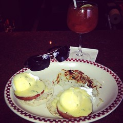 Eggs Benedict a Bloody Mary and Prada Sunglasses (mikeyes2) Tags: sunglasses december mary 14 eggs bloody prada benedict 2014 1149am