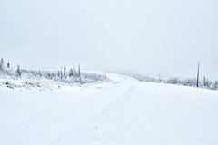 Grizzly Valley (yukonchris) Tags: road winter snow canada cold ice nature beauty fog forest landscape outside hoarfrost north foggy yukon wilderness northern hdr genre subdivision borealforest northof60 southernyukon canon7d grizzlyvalley