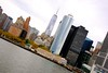 View of lower Manhattan (Maria Eklind) Tags: ocean newyork water skyline skyscrapers manhattan hudsonriver statenisland ferrie