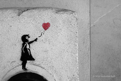 Girl with a Heart Balloon - Tomar (12) (Malcolm Bull) Tags: portugal girl graffiti stencil with heart balloon banksy include tomar 20141229tomar0012edited1web