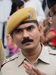 Turmeric beret (DarkLantern) Tags: india sub police fair service indien inspector rajasthan inde mela   em10 40150mm pushlar touristassistanceforce olympusomd