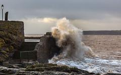 WavesAnchorHeadDec2014-0393 (oldparson) Tags: sea storm waves somerset anchor westonsupermare stormyweather