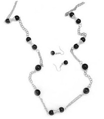 5th Avenue Black Necklace K2 P2120-2
