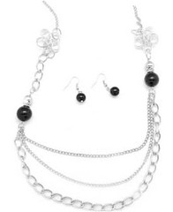 5th Avenue Black Necklce K1 P2110-1