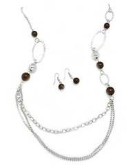 5th Avenue Brown Necklace P2330A-5