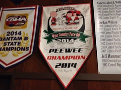 Championship banner (kevincrumbs) Tags: peanuts snoopy charliebrown santarosa lucyvanpelt linusvanpelt redwoodempireicearena snoopyshomeice