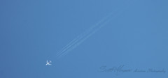 VH-OQH (Scottie Morgan) Tags: a380 qantas contrails flyover