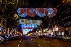 Navidad en Madrid, Calle Velázquez (ipomar47) Tags: madrid christmas light españa luz night evening navidad noche calle spain pentax lumière nighttime nocturna noël velazquez 2014 k20d
