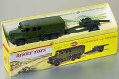 "Dinky Toys No 695 7.2"" Howitzer and Medium Artillery Tractor Gift Set (buzzer999) Tags: tractor liverpool toy army toys box military wwii worldwarii ww2 artillery giftset martian hornby worldwar2 leyland dinky meccano diecast howitzer 695 royalartillery dinkytoys mintinbox binnsroad mediumartillerytractor leylandmartian frankhornby 72gun"