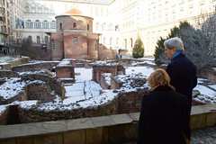 Secretary Kerry, Ambassador Ries Examine Roman Ruins and Historic Church During Walk in Bulgaria (U.S. Department of State) Tags: sofia bulgaria johnkerry marcieries
