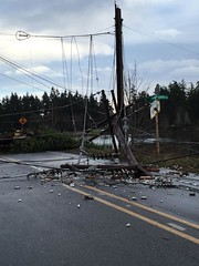 Wind damage at Brownsville Hwy, Poulsbo. Photograph, courtesy of PSE customer Kirsten Owens (Puget Sound Energy) Tags: usa power unitedstates wind wash damage restoration pse brownsville poulsbo outage pugetsoundenergy beastmode