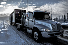 international with sea can2.jpg (Maryann Clark) Tags: winter sun canada cold truck silver shiny driving atl transport beam container international alberta driver ashton load oilfield haul truckdriver 5ton fortmcmurray highway63 fortsaskatchewan oilsands seacan durastar ashtontransport