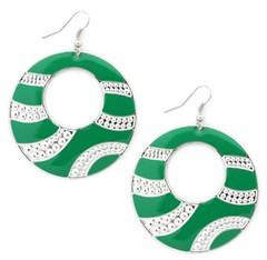 Glimpse of Malibu Green Earrings P5810A-5