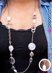 5th Avenue White Necklace K3 P2630-1