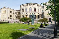 Oslo Palazzo del Parlamento (liviob) Tags: oslo europa scandinavia viaggio norvegia karljohansgate parlamento