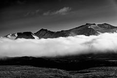 Summermemories (Troutfisher266) Tags: morning light summer blackandwhite mountains nature norway fog landscape se nikon sweden jmtlandsln