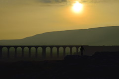 Looking at Ribblehead (images@twiston) Tags: park sunset outcrop cloud sun mist grass misty fog clouds landscape person moody arch looking dusk pavement farm yorkshire main foggy railway arches farmland line viaduct national figure limestone fields lone 24 jericho moor setting carlisle sebastopol atmospheric northyorkshire midland dales moorland settle 3peaks 1875 ribbleheadviaduct ribblehead whernside scheduledancientmonument belgravia ribblesdale settlecarlisle yorkshiredalesnationalpark yorkshire3peaks battymoss battywifehole lookingatribblehead bruntscarscar