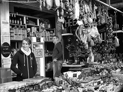 A dutch girl looking beautiful surrounded by meat (STEHOUWER AND RECIO) Tags: people blackandwhite bw food woman white man black holland netherlands girl beautiful beauty smile dutch face lady french hall photo store rotterdam shiny image market beef picture indoor fresh meat spanish cheeks attractive sausages friendly worst mooi products lovely product sales nederlands vrouw meisje eten hollands binnen pagkain gezicht worsten markethall kain vlees voedsel fuet monochroom saleslady markthal verkoopster tocreateisnottocopy crerenisnietkopiren