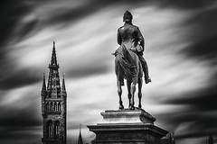 university spire (D Cation) Tags: statue scotland university glasgow spire lee kelvingrovepark 10stop bigstopper fieldmarshalearlroberts