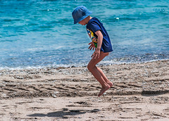 Joy (Bajo Rogan) Tags: boy sea playing game beach water kids children coast kid jump sand nikon waves child play joy nikkor montenegro d5300