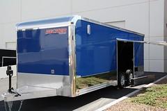 Have a car with low ground clearance? This premium escape door will solve that problem! #premiumescapedoor #beckercustomtrailers #aluminumtrailer #carhauler #stainlesssteeltrim  #extendedtongue  #atptongue  #pepsiblue  #huskyjack  #salemvents  #escapedoor (Becker Custom Trailers) Tags: door blue tongue jack aluminum husky escape steel atp salem pepsi trailer extended custom trim premium trailers stainless vents becker carhauler