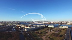 Top View On The Buildings Of St.-Petersburg City (alekseiptitsa) Tags: old city travel sky urban house building water beautiful saint skyline architecture river square landscape cityscape view russia top petersburg center palace historic saintpetersburg russian fortress neva