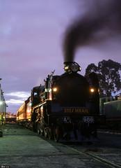 Daybreak (Dobpics O'Brien) Tags: victorian engine rail railway victoria steam testing special newport locomotive railways a2 vr workshops srv steamrail a2986