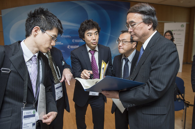Seiya Ishikawa informs the Japanese delegation