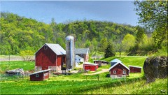 Spring Valley Farm (newagecrap) Tags: wisconsin barn rural landscape farming rustic barns farms farmbuilding nikond3200 farmscenes ruralwisconsin wisconsinfarm danecountywisconsin barnwisconsin wisconsinbarns wisconsinbarn barnpicture rusticwisconsin barnphoto newagecrapphotography may2016 topazimpression barnswisconsin