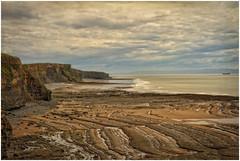 Heritage Coast (tina777) Tags: sea sky heritage beach water wales clouds coast sand rocks waves ship cliffs vale glamorgan coastline southerndown ononesoftware