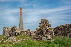 Cornish Tin Mine (Evoljo) Tags: uk chimney brick tower wall nikon mine cornwall ruin nationaltrust levant tinmine d7100