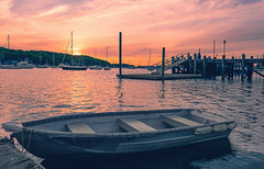 On The Dock Of The Bay (wowography.com) Tags: sunset red sky orange nature water harbor boat nikon colorful village may longisland 2016 d610 1635mm northportny wowographycom 4982029