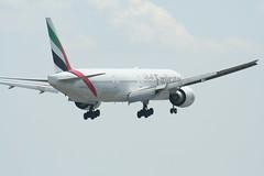 IMG_2602 (wmcgauran) Tags: boston airplane airport aircraft aviation emirates boeing bos 777 eastboston kbos a6ecp