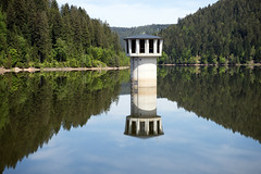 Stausee Kleine Kinzig (Felix Meyer Photo) Tags: lake black tower nature water forest landscape mirror see wasser spiegel natur barrier turm landschaft schwarzwald kleine stausee kinzig