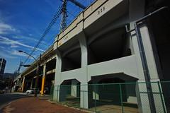 20160618_DP0Q3594 (NAMARA EXPRESS) Tags: street railroad bridge blue color japan concrete outdoor fine pillar guard sigma railway kobe hyogo foveon quattro dp0 namaraexp foveonclassicblue