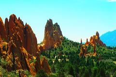 garden of the gods edit 1 (@joekneale) Tags: orange green garden colorado rocky gods crags undergrowth